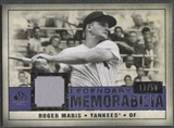 2008 SP Legendary Cuts #RM Roger Maris Legendary Memorabilia Jersey #17/50