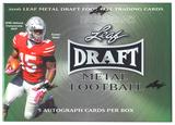 2016 Leaf Metal Draft Football Hobby Box