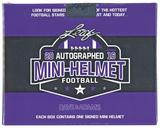 2016 Leaf Autographed Mini-Helmet Football Hobby Box