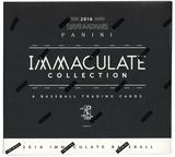 2016 Panini Immaculate Collection Baseball Hobby Box