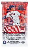 2016 Topps Stadium Club Baseball Hobby Pack