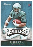 2012 Topps Bowman #103A Chris Polk RC/cutting to his right