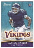 2012 Topps Bowman #109A Jarius Wright RC/running to his right