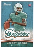 2012 Topps Bowman #139A Jacory Harris RC/set to pass