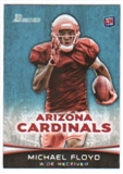 2012 Topps Bowman #140A Michael Floyd RC/football at waist