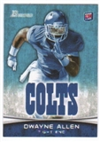 2012 Topps Bowman #176A Dwayne Allen RC/without football