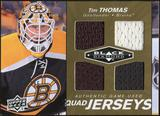 2010/11 Upper Deck Black Diamond Jerseys Quad Gold #QJTT Tim Thomas 1/25
