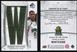 2010/11 Upper Deck SP Authentic #201 Hassan Whiteside RC Letter Patch Autograph /299