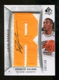 2010/11 Upper Deck SP Authentic #204 Derrick Favors RC Letter Patch Autograph /149