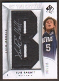 2010/11 Upper Deck SP Authentic #218 Luke Babbitt RC Letter Patch Autograph /299