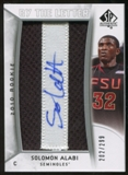 2010/11 Upper Deck SP Authentic #221 Solomon Alabi AU/Serial 299, Print Run 1794 Autograph /1794