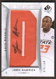 2010/11 Upper Deck SP Authentic #225 James Anderson RC Letter Patch Autograph /299