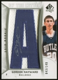 2010/11 Upper Deck SP Authentic #232 Gordon Hayward RC Letter Patch Autograph /149