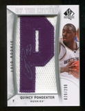 2010/11 Upper Deck SP Authentic #235 Quincy Pondexter AU/Serial 299, Print Run 2691 Autograph /2691