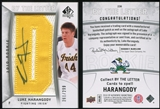 2010/11 Upper Deck SP Authentic #236 Luke Harangody RC Letter Patch Autograph /299