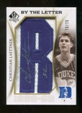 2010/11 Upper Deck SP Authentic By The Letter Legend Last Name #LCL Christian Laettner Autograph /75