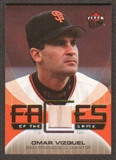 2007 Fleer Ultra Faces of the Game Materials #OV Omar Vizquel
