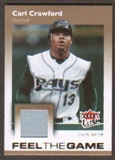 2007 Fleer Ultra Feel the Game Materials #CR Carl Crawford