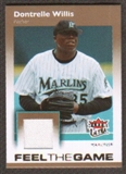 2007 Fleer Ultra Feel the Game Materials #DW Dontrelle Willis