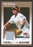 2007 Fleer Ultra Feel the Game Materials #EC Eric Chavez