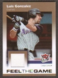 2007 Fleer Ultra Feel the Game Materials #LG Luis Gonzalez
