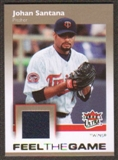 2007 Fleer Ultra Feel the Game Materials #SA Johan Santana