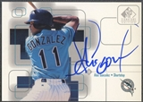 1999 SP Signature #AG Alex Gonzalez Auto