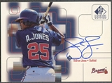 1999 SP Signature #AJ Andruw Jones Auto