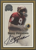 2000 Greats of the Game #36 Sonny Jurgensen Gold Border Auto