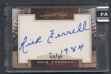 2011 Donruss Limited Cuts #271 Rick Ferrell Auto #33/35