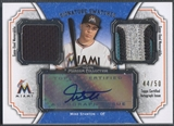 2012 Topps Museum Collection #MS Mike Stanton Jersey Patch Auto #44/50
