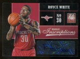 2012/13 Panini Elite Rookie Inscriptions #27 Royce White Autograph