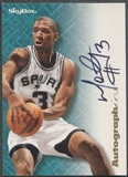 1996/97 SkyBox Premium #93 Monty Williams Autographics Auto
