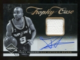 2011/12 Limited Trophy Case Materials Signatures #28 Tony Parker Autograph 6/15