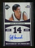 2011/12 Limited Retired Numbers Signatures #16 Jeff Hornacek Autograph /99