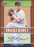 2009 Upper Deck Inkredible #JM John Maine S2 Autograph