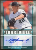 2009 Upper Deck Inkredible #ML Matt Lindstrom S2 Autograph