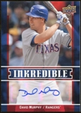 2009 Upper Deck Inkredible #MU David Murphy S2 Autograph