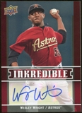 2009 Upper Deck Inkredible #WW Wesley Wright S2 Autograph