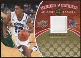 2010 Upper Deck World of Sports All-Sport Apparel Memorabilia #ASA6 Derrick Rose