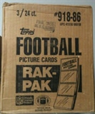 1986 Topps Football Rack 3-Box Case