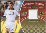 2010 Upper Deck World of Sports All-Sport Apparel Memorabilia #ASA25 David Beckham
