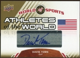 2010 Upper Deck World of Sports Athletes of the World Autographs #AW33 David Toms