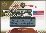 2010 Upper Deck World of Sports Athletes of the World Autographs #AW35 Fred Couples