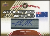 2010 Upper Deck World of Sports Athletes of the World Autographs #AW40 Karrie Webb