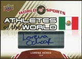 2010 Upper Deck World of Sports Athletes of the World Autographs #AW41 Lorena Ochoa