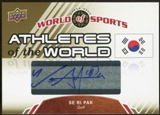 2010 Upper Deck World of Sports Athletes of the World Autographs #AW43 Se Ri Pak