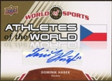 2010 Upper Deck World of Sports Athletes of the World Autographs #AW92 Dominik Hasek