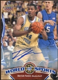 2010 Upper Deck World of Sports Autographs #41 Derrick Favors