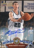 2010 Upper Deck World of Sports Autographs #43 Gordon Hayward